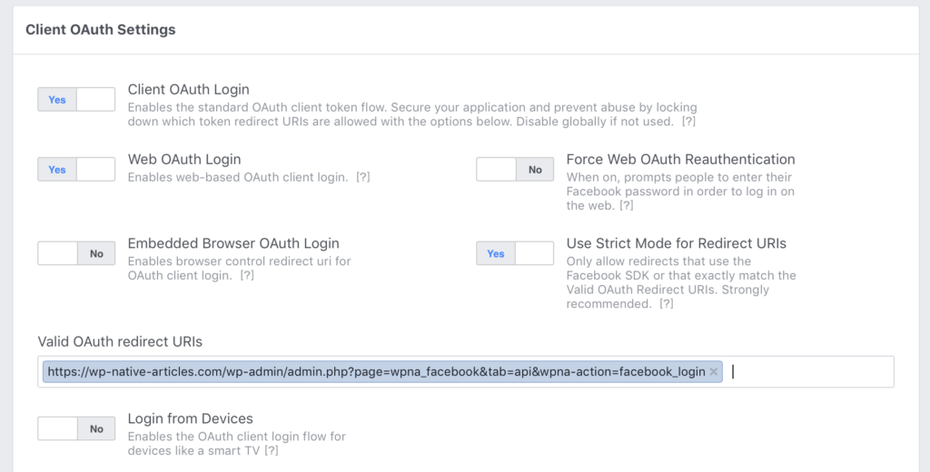 Facebook App Warning - March Security Update & changes to Valid